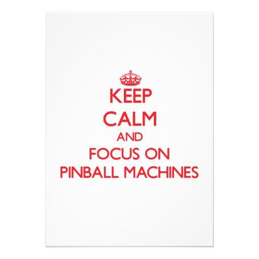 Keep Calm and focus on Pinball Machines Custom Invite