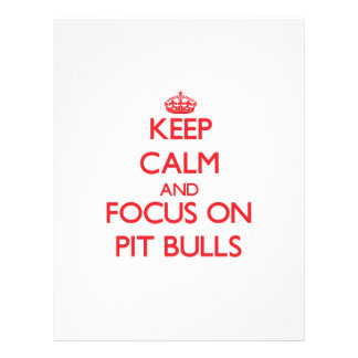 Keep Calm and focus on Pit Bulls Flyer