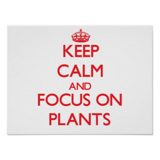 Keep Calm and focus on Plants Poster
