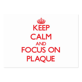 Keep Calm and focus on Plaque Pack Of Chubby Business Cards