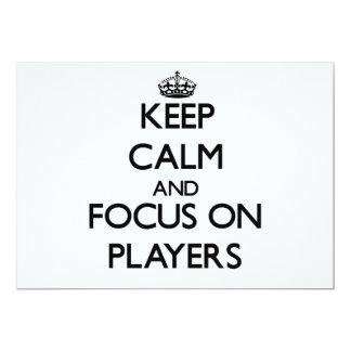 Keep Calm and focus on Players Custom Invitation