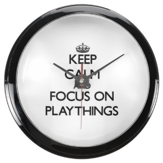 Keep Calm and focus on Playthings Aqua Clock