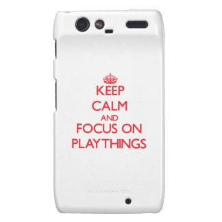 Keep Calm and focus on Playthings Motorola Droid RAZR Case