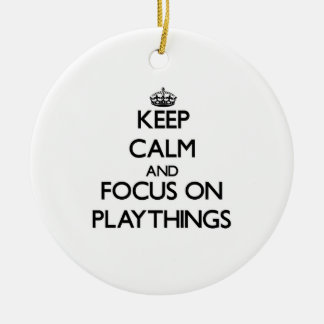 Keep Calm and focus on Playthings Christmas Tree Ornaments