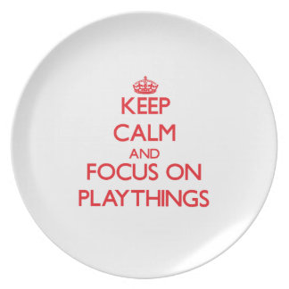 Keep Calm and focus on Playthings Plates