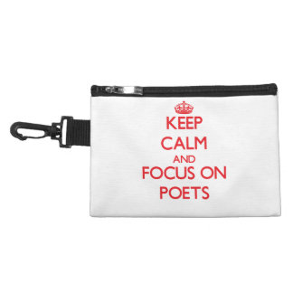 Keep Calm and focus on Poets Accessory Bags