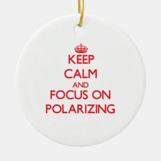 Keep Calm and focus on Polarizing Christmas Tree Ornaments