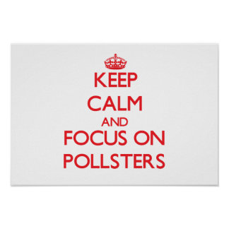 Keep Calm and focus on Pollsters Posters