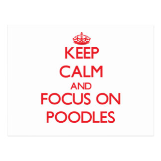 Keep Calm and focus on Poodles Post Card
