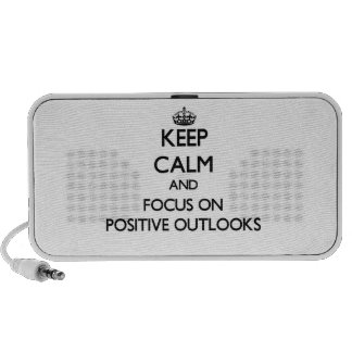 Keep Calm and focus on Positive Outlooks iPod Speakers