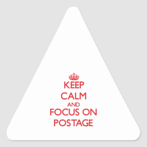 Keep Calm and focus on Postage Sticker