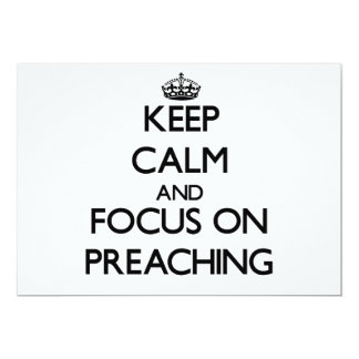 Keep Calm and focus on Preaching Custom Announcements