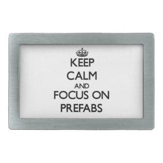 Keep Calm and focus on Prefabs Belt Buckles