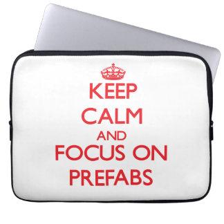 Keep Calm and focus on Prefabs Laptop Sleeve