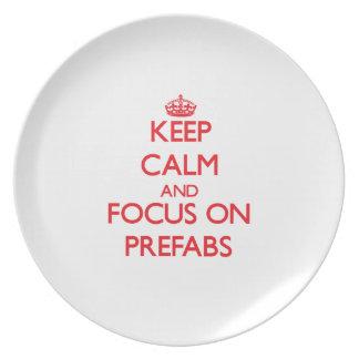 Keep Calm and focus on Prefabs Dinner Plates