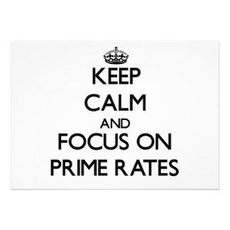 Keep Calm and focus on Prime Rates Custom Invite