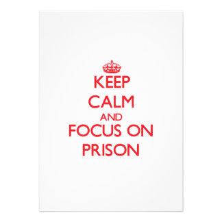 Keep Calm and focus on Prison Invitation