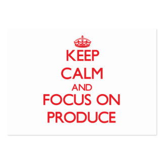 Keep Calm and focus on Produce Large Business Cards (Pack Of 100)