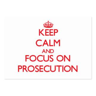 Keep Calm and focus on Prosecution Business Card Templates