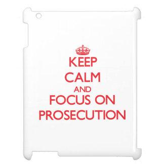 Keep Calm and focus on Prosecution iPad Case