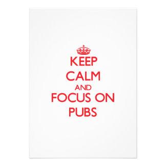 Keep Calm and focus on Pubs Custom Announcements