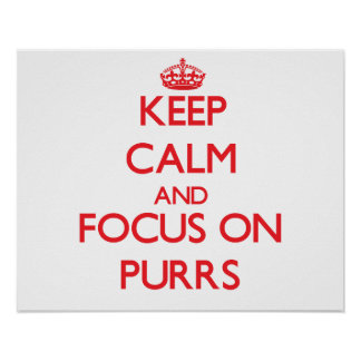 Keep Calm and focus on Purrs Posters