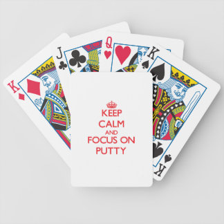 Keep Calm and focus on Putty Bicycle Card Decks