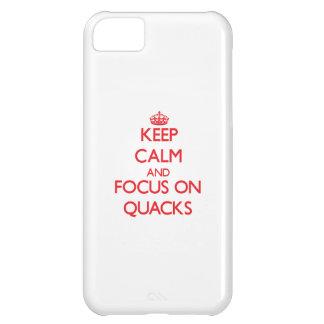 Keep Calm and focus on Quacks iPhone 5C Cases