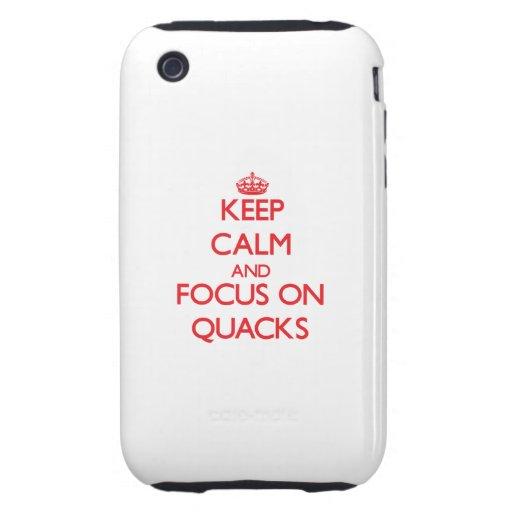 Keep Calm and focus on Quacks Tough iPhone 3 Cases