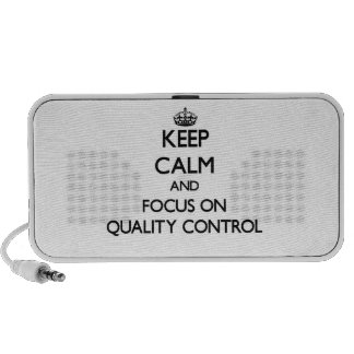 Keep Calm and focus on Quality Control Notebook Speakers