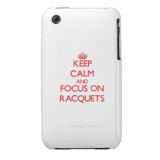 Keep calm and focus on Racquets iPhone 3 Case