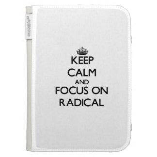 Keep Calm and focus on Radical Kindle Keyboard Case