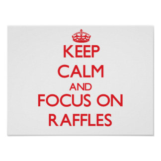 Keep Calm and focus on Raffles Posters