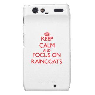 Keep Calm and focus on Raincoats Razr Case