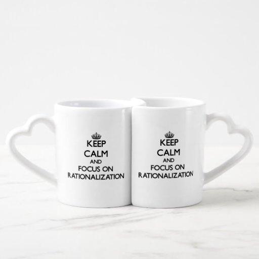 Keep Calm and focus on Rationalization Lovers Mug Sets
