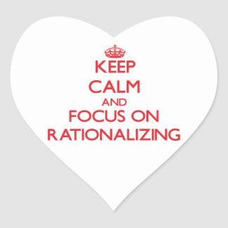 Keep Calm and focus on Rationalizing Heart Sticker