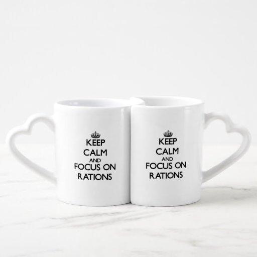 Keep Calm and focus on Rations Lovers Mug Set