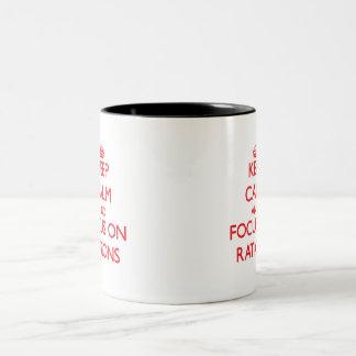 Keep Calm and focus on Rations Two-Tone Mug
