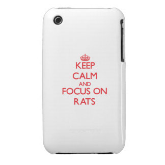 Keep calm and focus on Rats iPhone 3 Covers