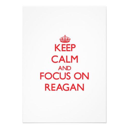 Keep Calm and focus on Reagan Announcements