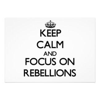 Keep Calm and focus on Rebellions Custom Invites