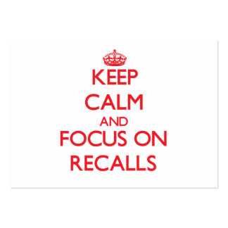 Keep Calm and focus on Recalls Business Card