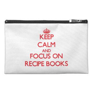 Keep Calm and focus on Recipe Books Travel Accessory Bag