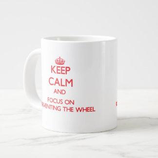 Keep Calm and focus on Reinventing The Wheel 20 Oz Large Ceramic Coffee Mug