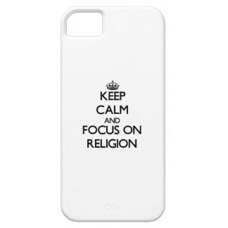 Keep Calm and focus on Religion iPhone 5 Case