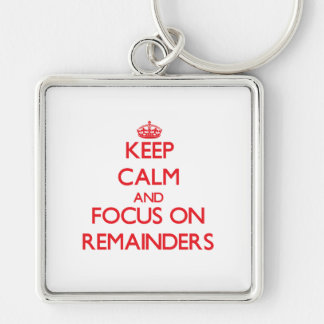 Keep Calm and focus on Remainders Keychains