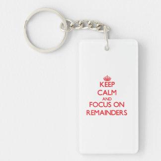 Keep Calm and focus on Remainders Single-Sided Rectangular Acrylic Key Ring