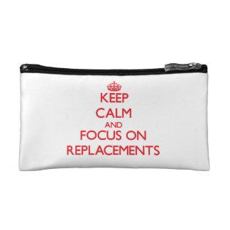 Keep Calm and focus on Replacements Makeup Bag