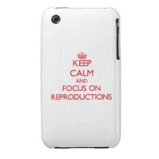 Keep Calm and focus on Reproductions iPhone 3 Cover