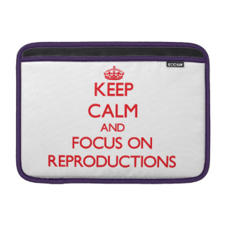 Keep Calm and focus on Reproductions MacBook Air Sleeves